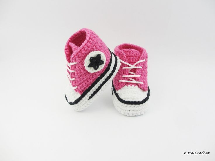 Baby converse shoes > girls crochet pink sneakers. So adorable ...