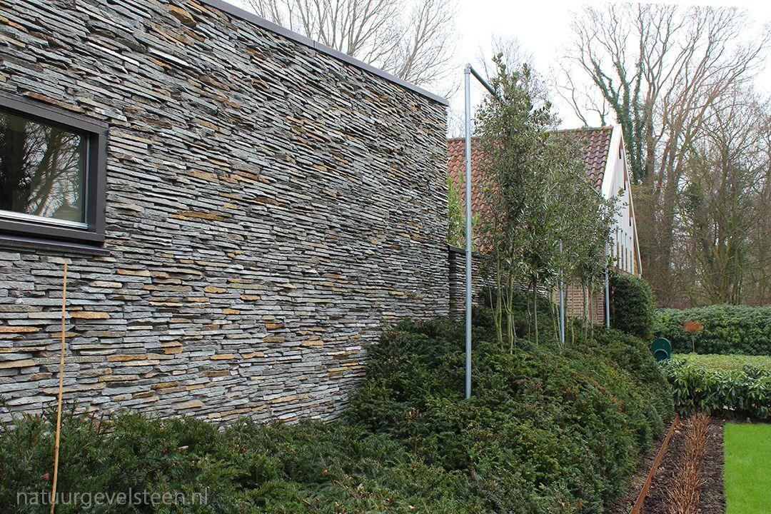 Natuursteen metselwerk dunne voeg natuurgevelsteen project in