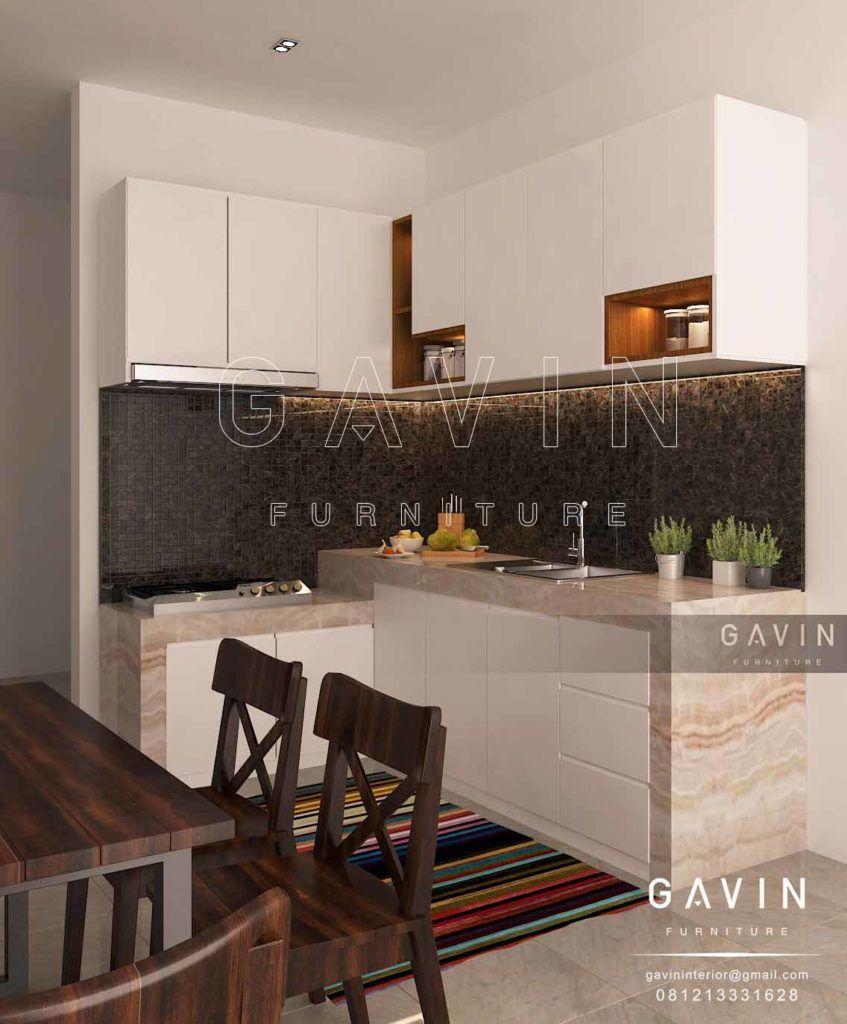 Kitchen Set Yang Dibuat Menggunakan Desain Minimalis Dengan Bentuk