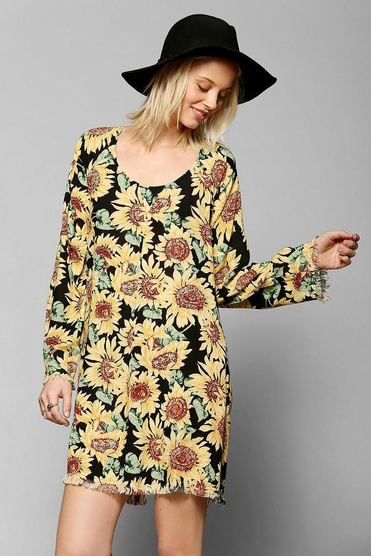 504bef247ece Somedays Lovin Sunflower Long-Sleeve Dress | New Arrivals | Urban ...