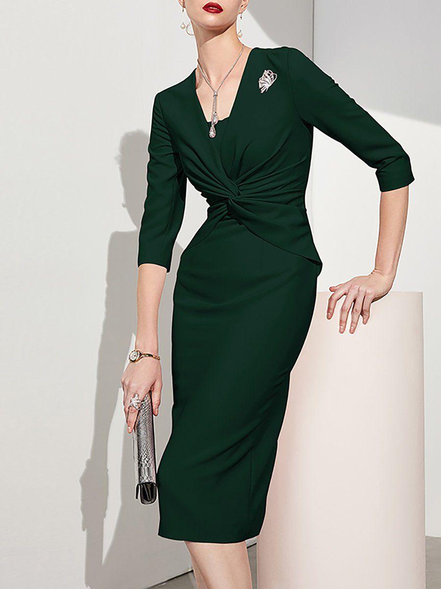 f368ab93ce Army Green Bodycon Midi Dress | Huston Fislar Photography