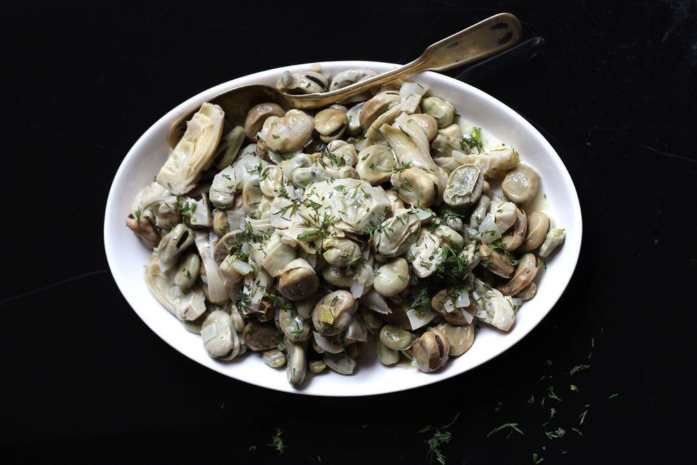 Artichokes and Fava Beans (Aginares me koukia)