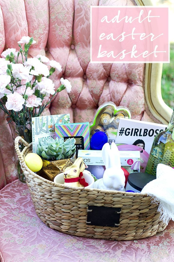 The adult easter basket for your bestie easter baskets easter and ive got the perfect easter gift for your bestie an adult easter basket negle Images
