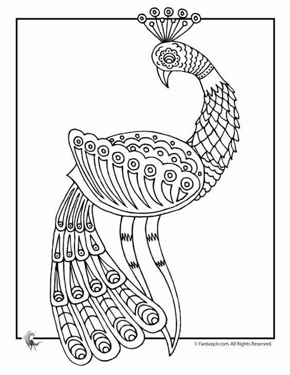 free printable peacock doodle art coloring page for adults join the grown up coloring