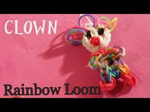 ▶ Rainbow Loom Nederlands Clown Hangertje Nederlandse Diy regenboog loom - YouTube