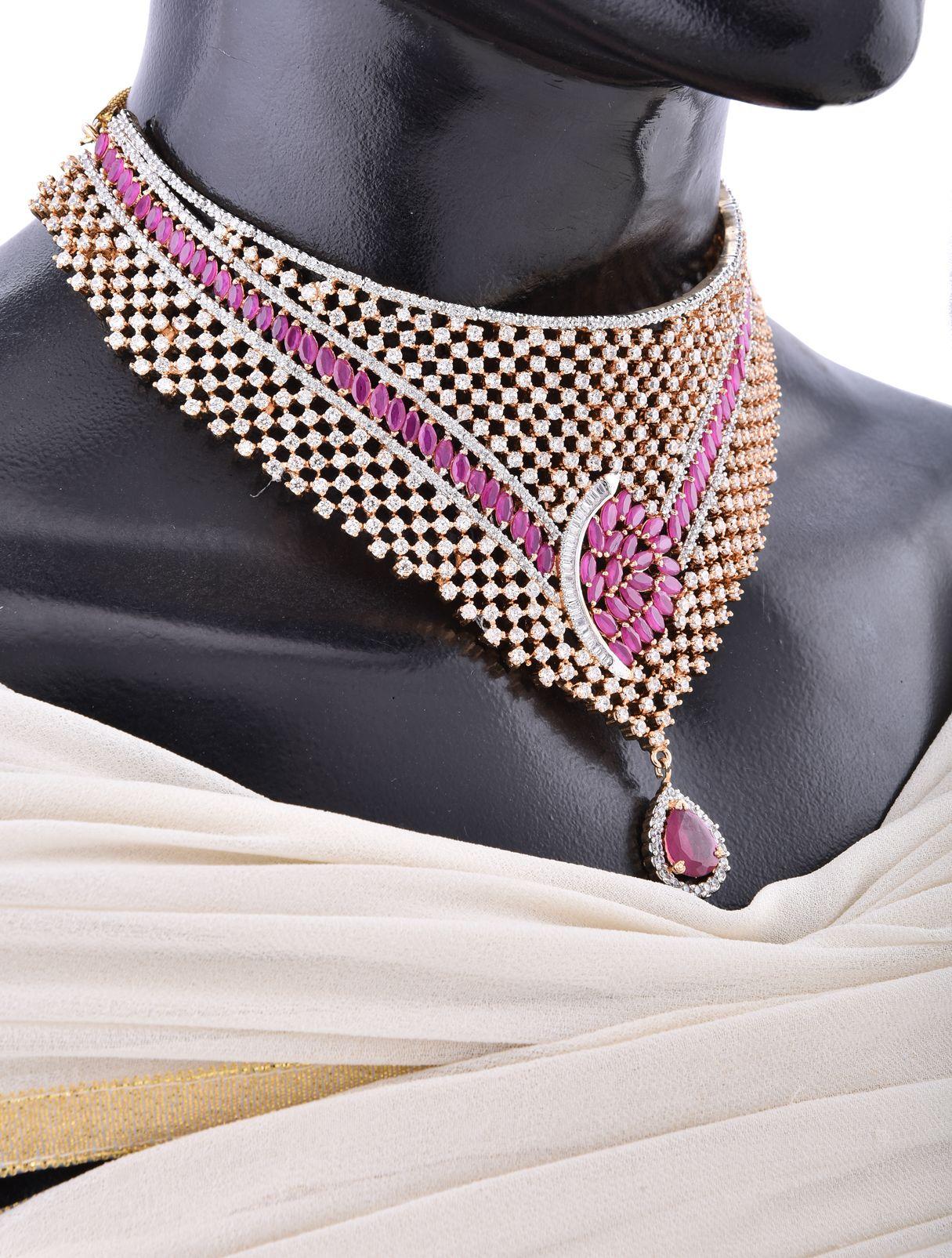 Choker Necklace Set For Wedding Reception