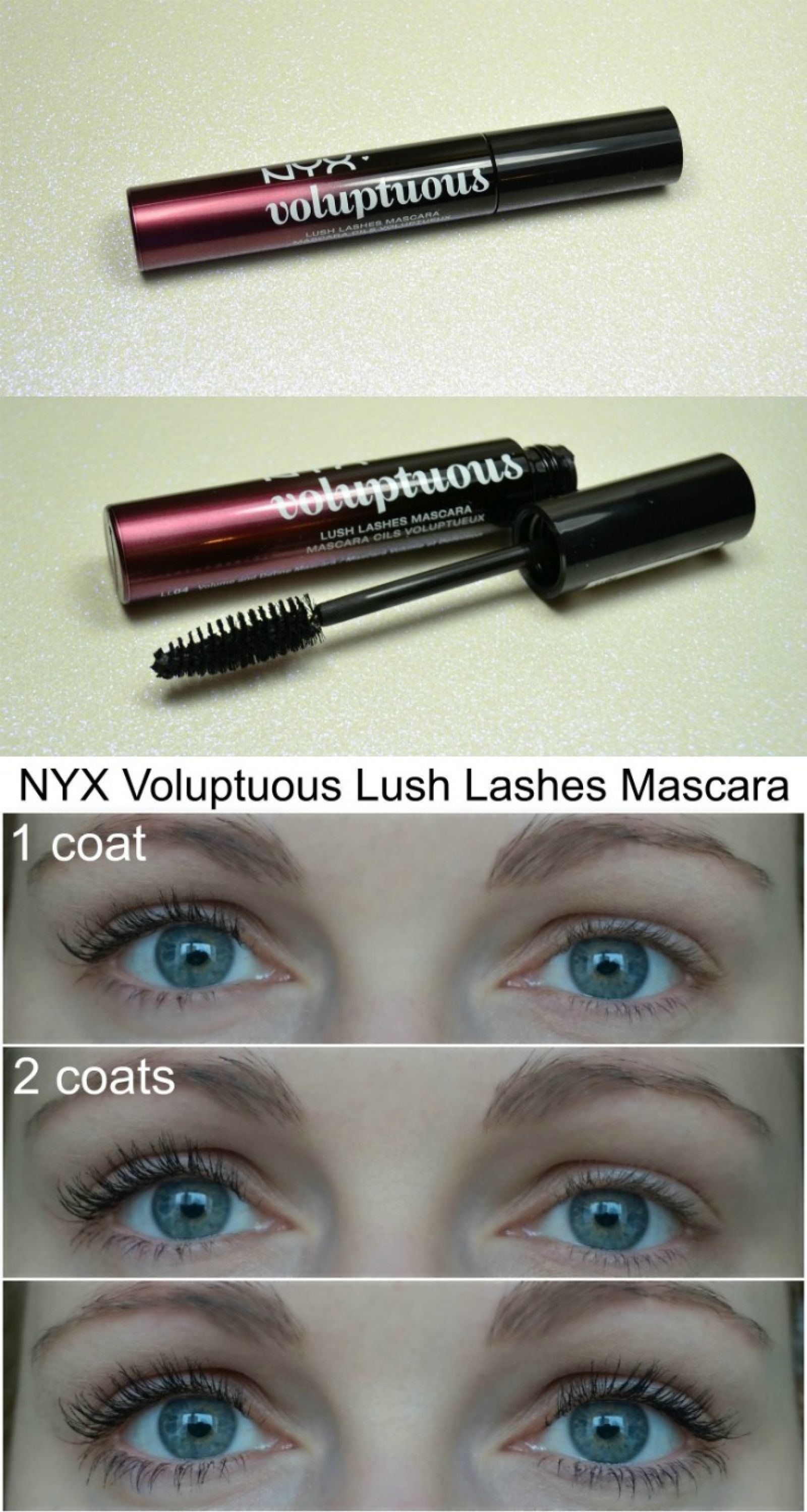 98042d4d67b NYX Lush Lashes Voluptuous Mascara review and how it looks on my lashes.  via @beautybymissl