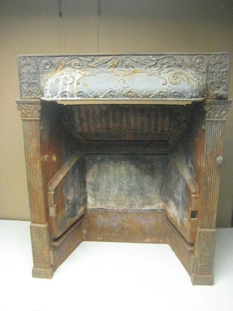 Vintage Antique Cast Iron Fireplace Insert By Buckeye Patented 1892 Fireplace Inserts Cast
