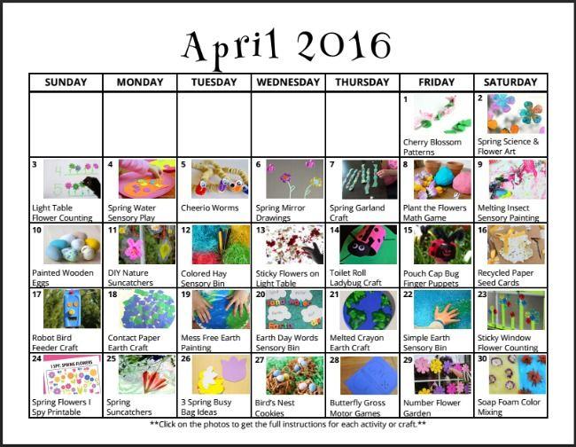 April Calendar Questions : Free clickable april play calendar preschool daily