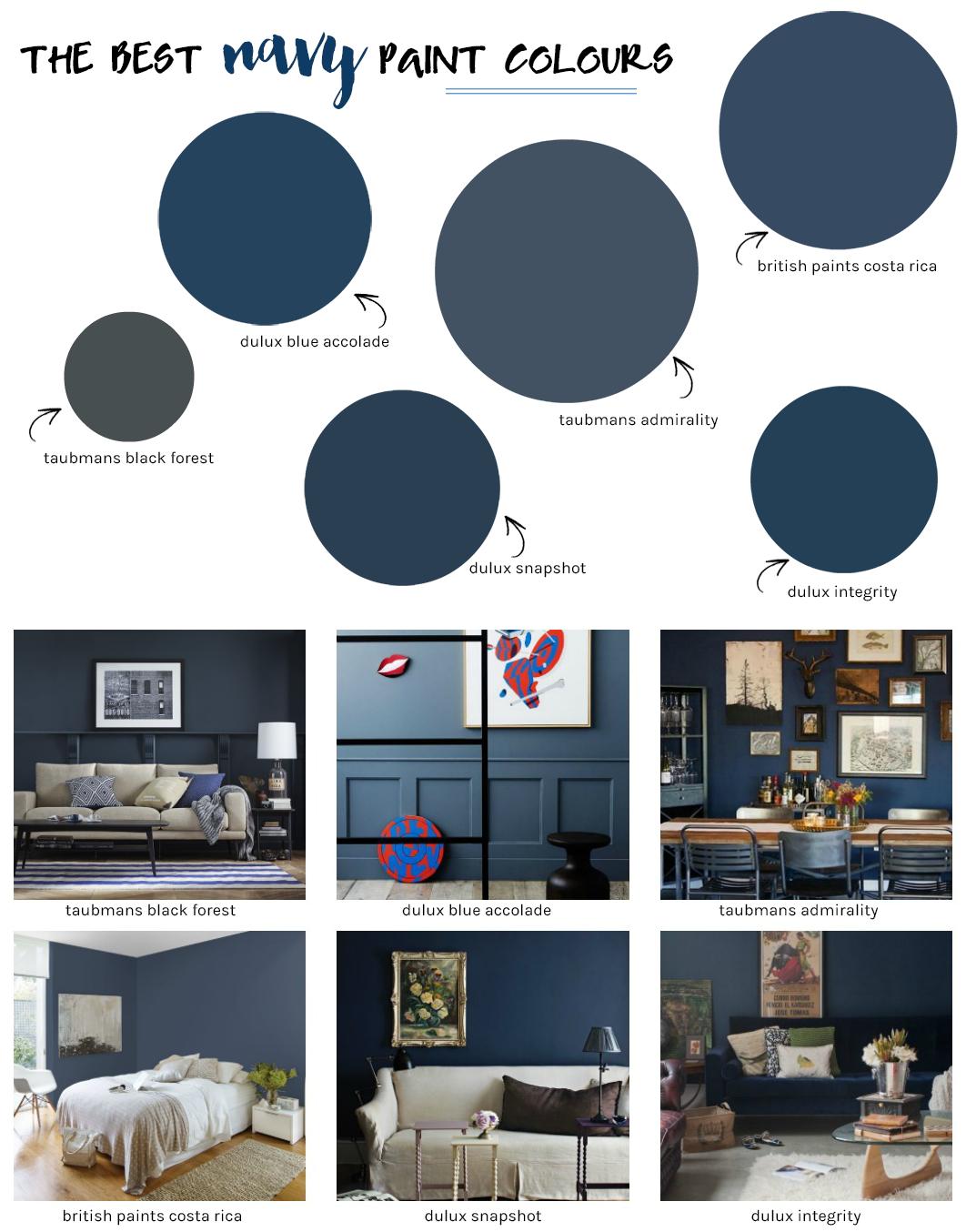The Best Navy Paint Colours Blue Living Room Decor Blue Painted