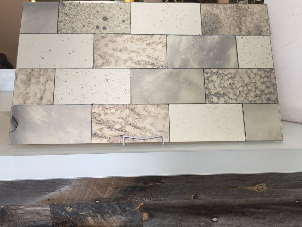 grey mixed set of antique mirror tiles | subway tiles, antique