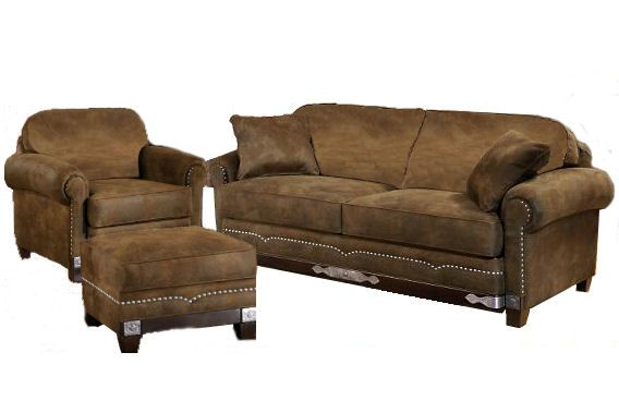 rustic western couches | Winchester Sofa, Chair, Ottoman - All ...