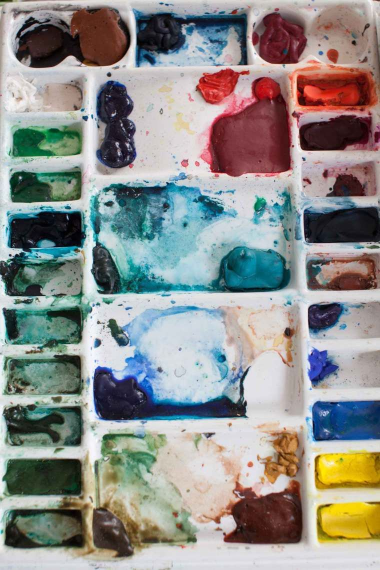 How To Set Up The Table For Watercolors Watercolor Art