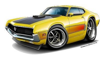 1970 Ford Torino 429 Wall Graphic Vinyl Decal Man Cave Garage Sticker Cling Art | eBay