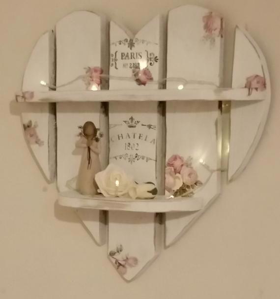 Photo of Items similar to vintage rose shabby chic heart shelves on etsy