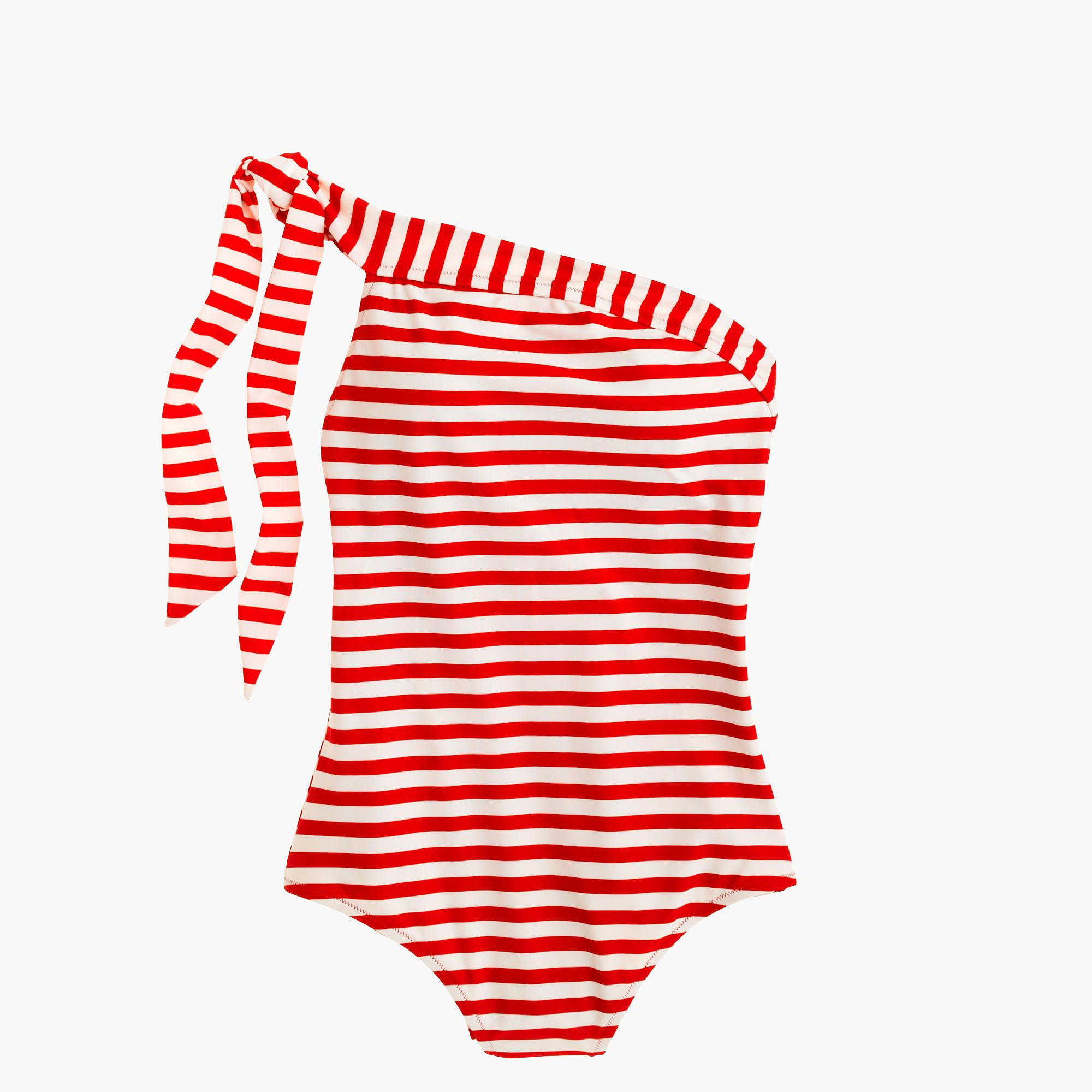 Shop the One-Shoulder One-Piece Swimsuit In Classic Stripe at JCrew.com and see our entire selection of Women's Swim.