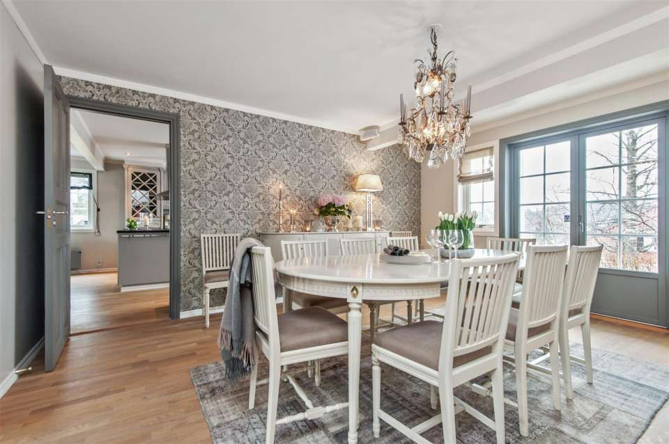 Lovely gustavian dining room in Oslo Lovely ideas for the home