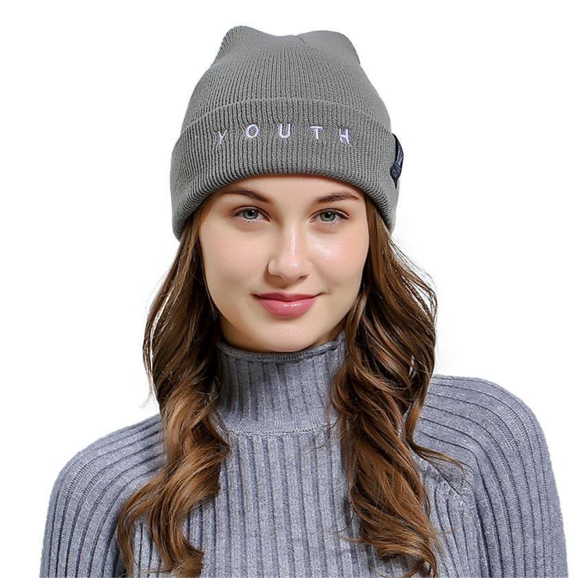 Unisex Men Women Knit Baggy Hip Hop Beanie Hat Winter Warm Ski Knitted Hat Cap