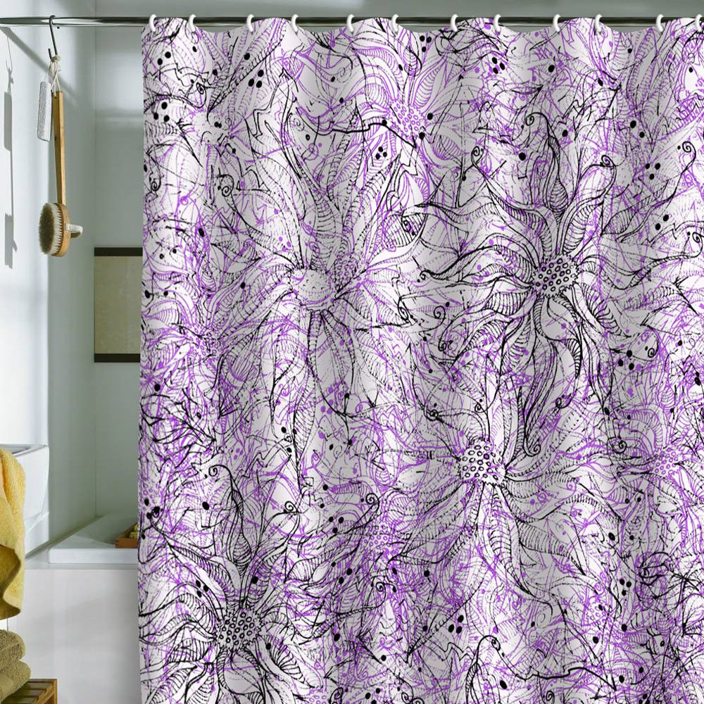 lisa argyropoulos angelica purple shower curtain purple and house. Black Bedroom Furniture Sets. Home Design Ideas