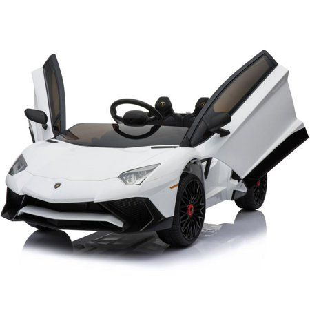 Lamborghini 12v Kids Battery Powered Ride On Car Remote Controlled 2 Seater White 2 4ghz Rc Walmart Com Toy Cars For Kids Kids Ride On Ride On Toys