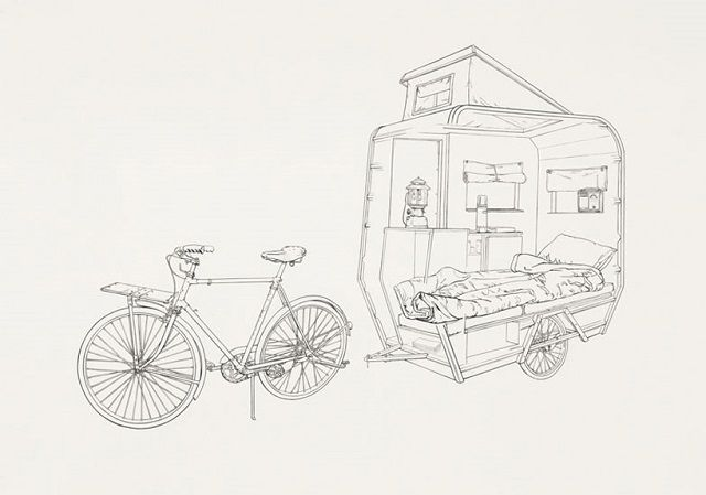 Cozy Bike Camper The Little Tag Along Camper Bicycle Bike Camping