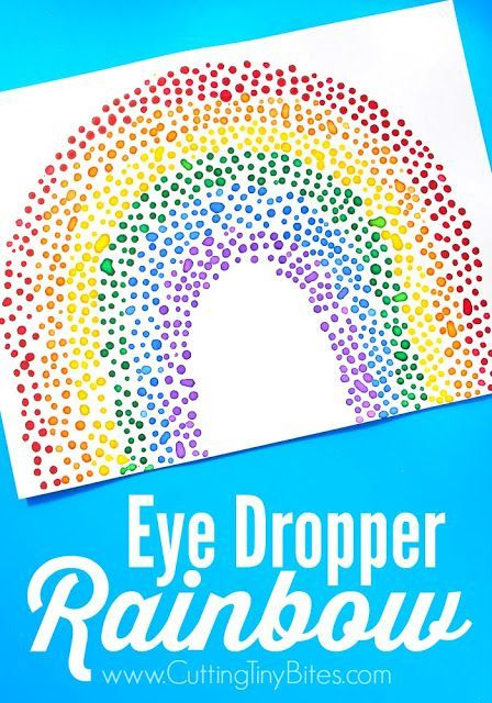 Eye Dropper Rainbow Craft Rainbow Crafts Rainbow Activities