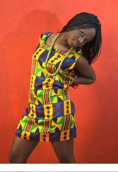 Black Woman In African Kente Cloth Dress Clothes Pinterest