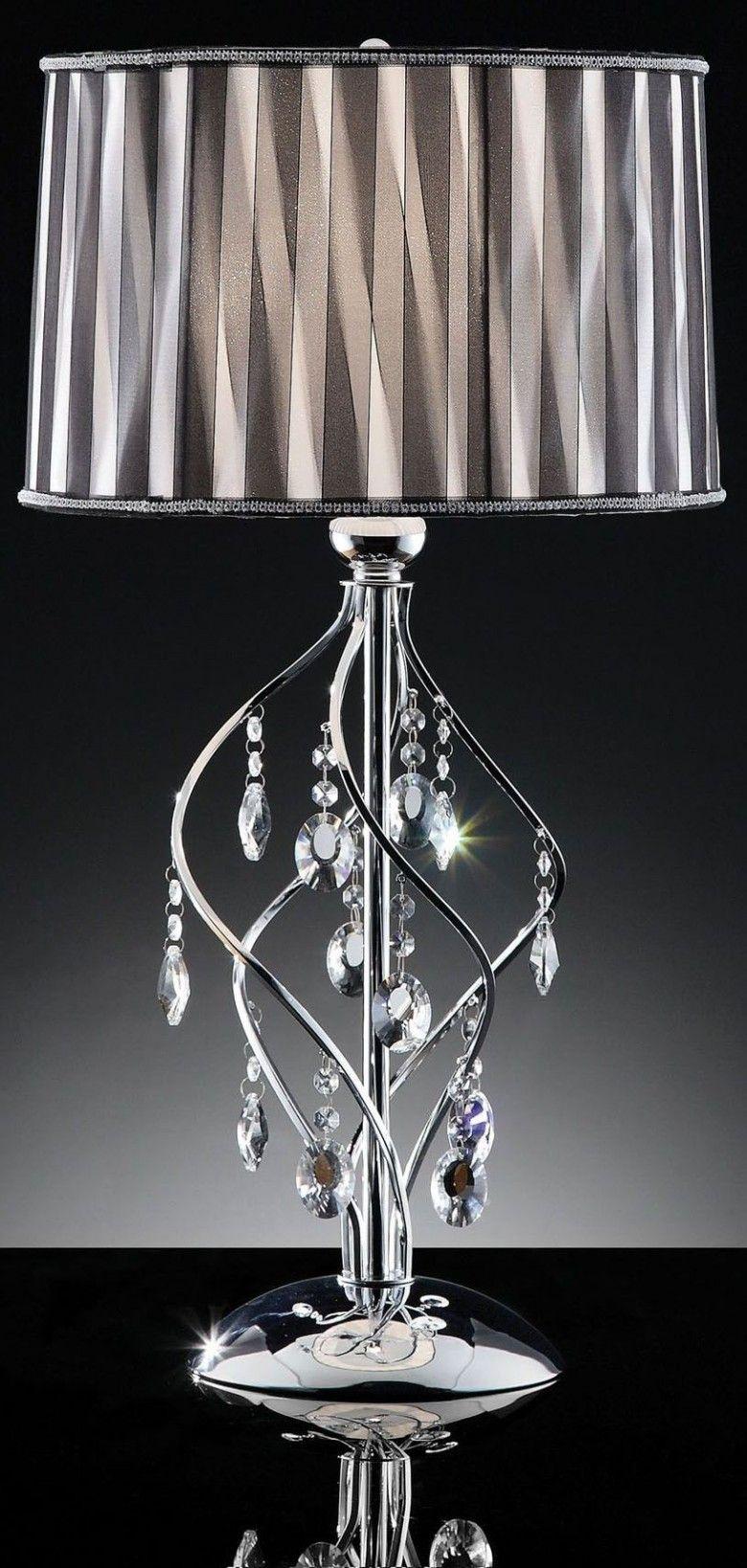 Bejeweled lamp shade | Beaded lamps