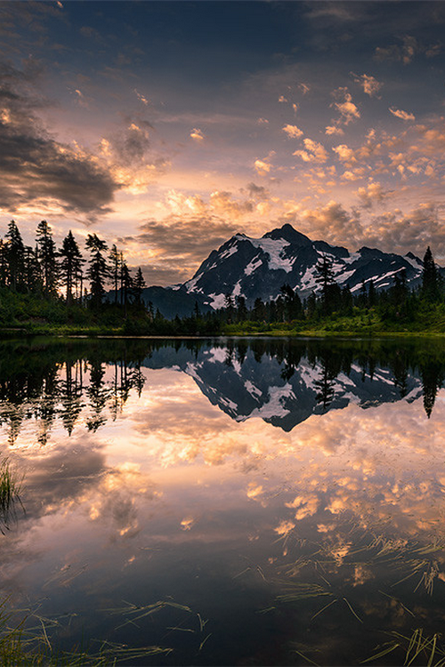 Picture Lake Awakening Washington By Dan Mihai Clouds Colour Mountain Tree Water Reflections Beautiful Panorama Landscape Mirror Mo Beautiful Nature