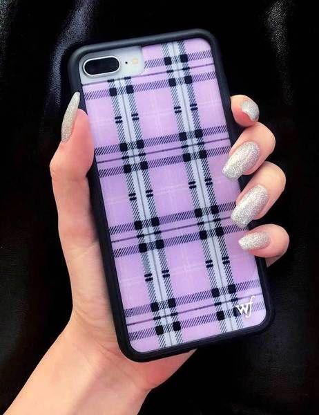 Pink Plaid iPhone 6 /7 /8 Plus Case Fundas para iphone Fundas