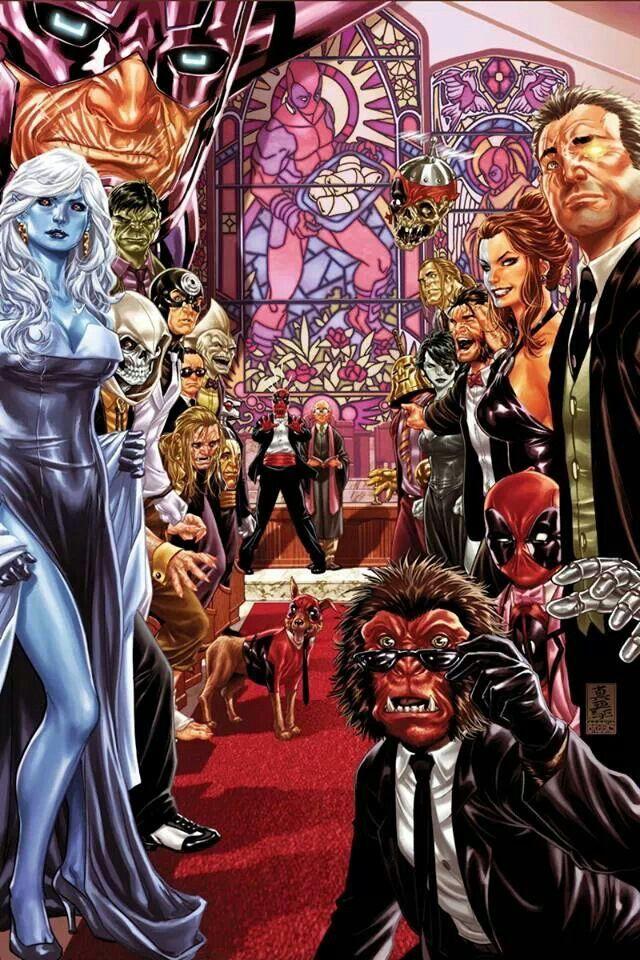 Deadpool Wedding Variant 27 Marvel Comics Art Deadpool Marvel Deadpool