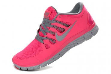 57d4c59f5444 Nike Free 5.0+ Womens Coral Light Gray Running Shoes
