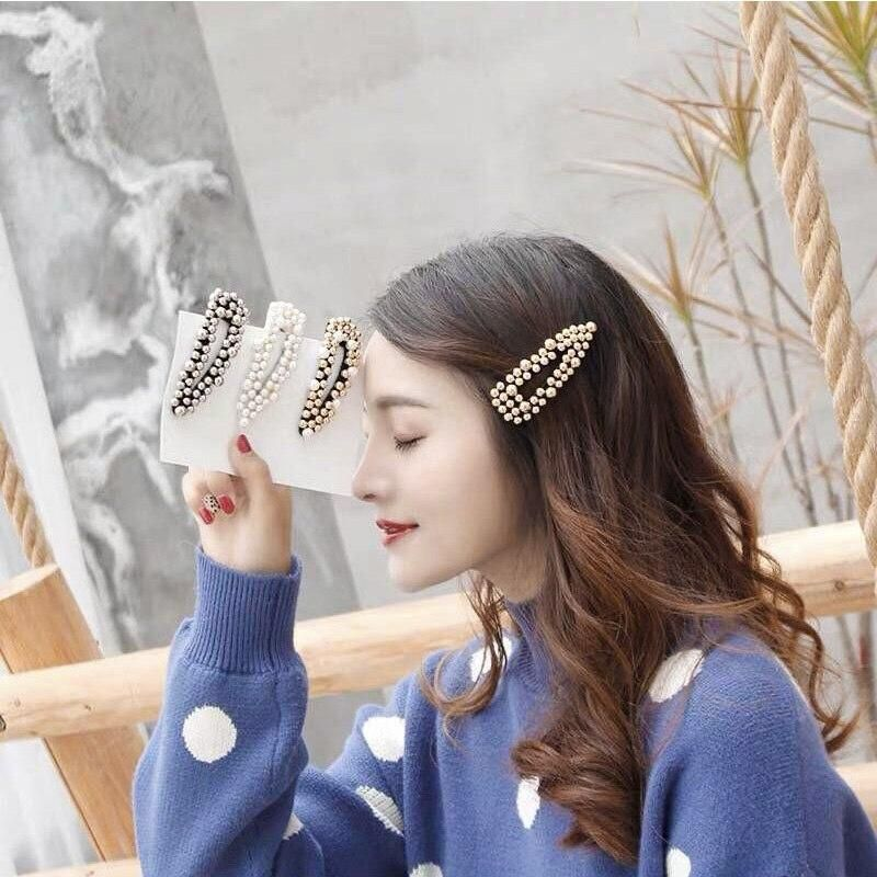 0c6b7d184 Korean Style Beads Pearl Hairgrips Women Hair Jewelry Fashion Clip  Barrettes Hair Accessories Gift for Girls Head Piece 2019 New