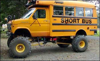 Red Neck School Bus With Images Bus Cartoon Short Bus Shtf