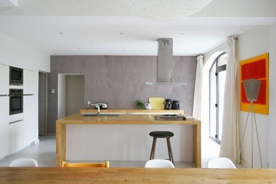 cuisines de r ve le top 100 de la r dac 39 plans de travail en bois gres cerame et discret. Black Bedroom Furniture Sets. Home Design Ideas