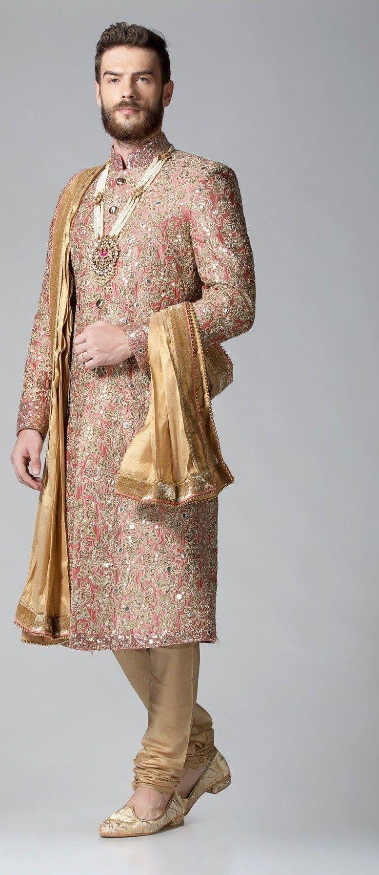Sherwani Style Guide Get Different Sherwani Designs Pattern To Choose From Indian Bridal Dress Indian Groom Wear Sherwani [ 1791 x 777 Pixel ]