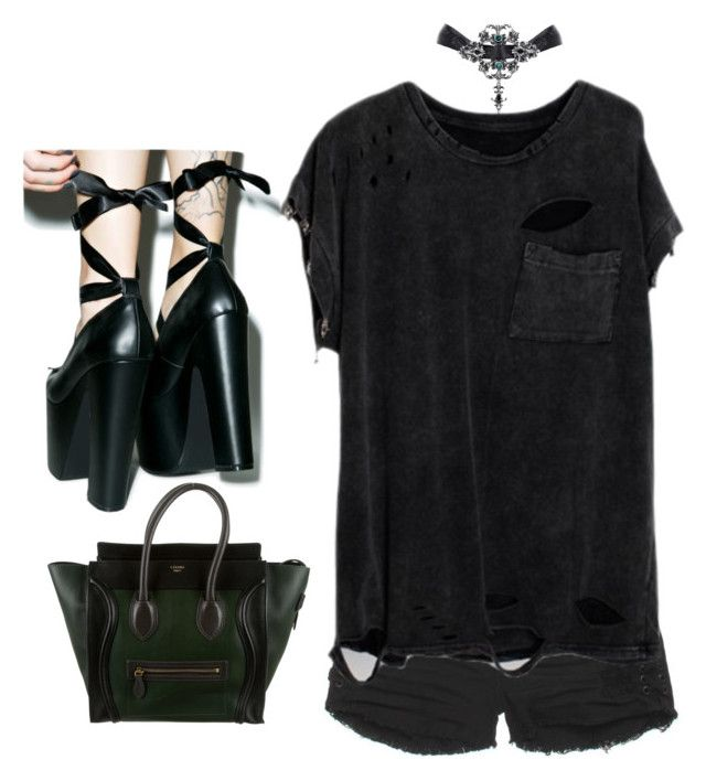 """Untitled #361"" by bleeding-neverland on Polyvore featuring Billabong, Sugarbaby and CÉLINE"