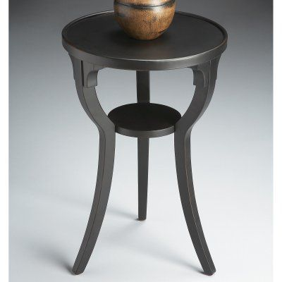 Butler Round Accent Table Black Licorice 1328111