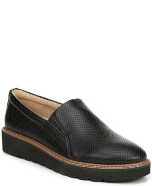 9a506c316e9 Naturalizer Effie 2 Perforated Platform Loafers - Black