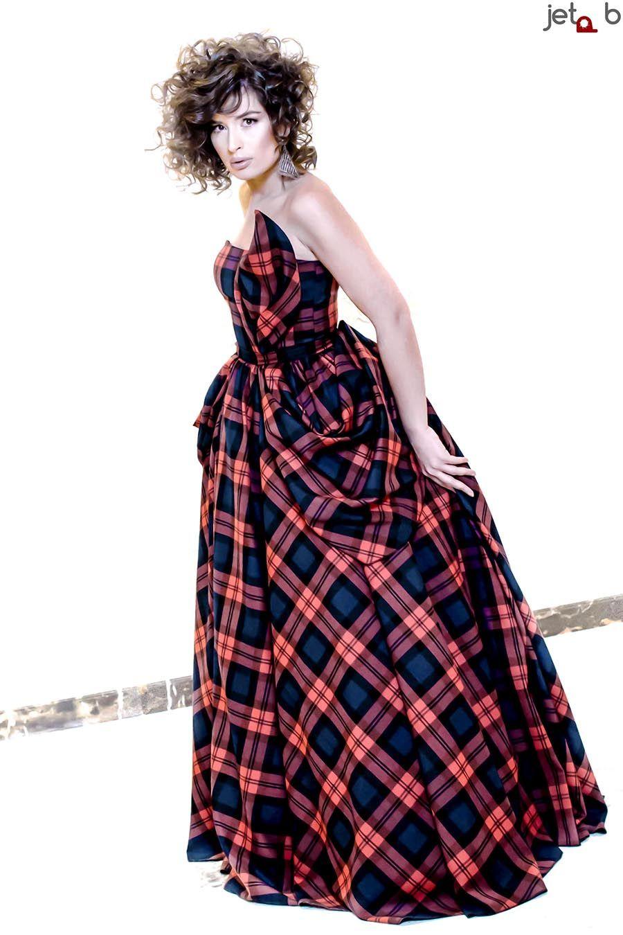Tartan Gown | Berna-Saraci-Tartan-Gown-jpg.jpg | Tartan Dresses ...