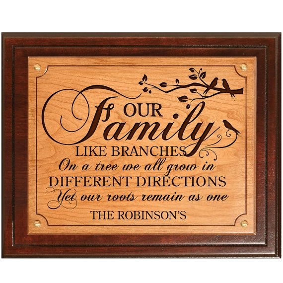 Family Tree Wedding Gift: Personalized Our Family Tree, Wedding Gift, Parent Thank