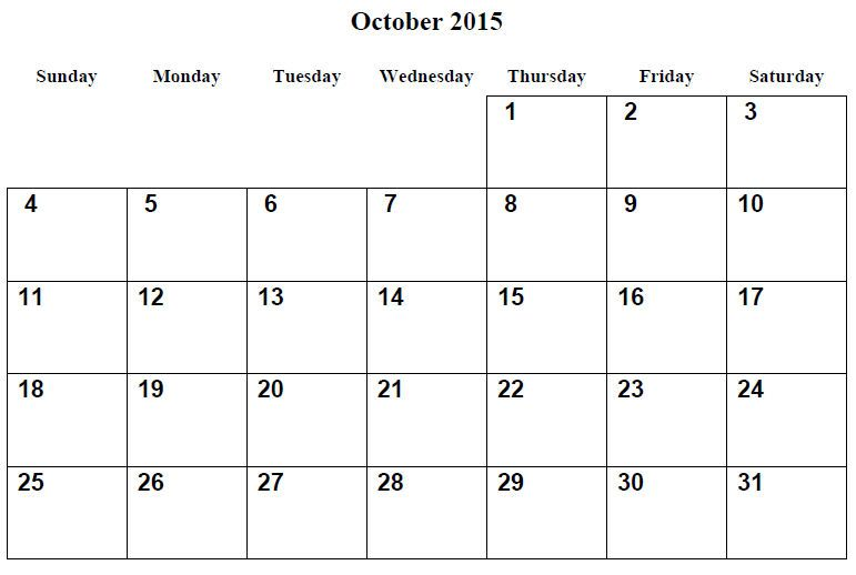 Printable Calendar Pages 2015 October 001 Also See The Category