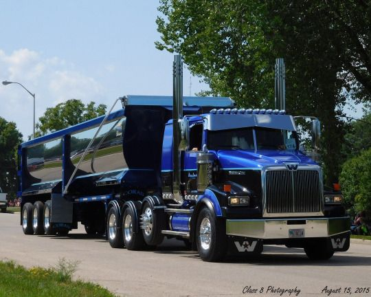 Semitrcknwestern Star Custom Heavy Haul With Matchin Dump Big