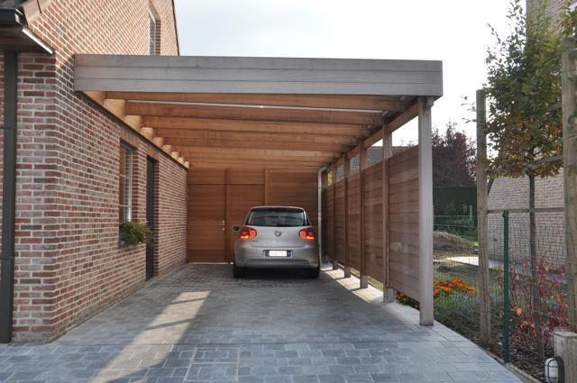 houten carport in iroko door woodproject