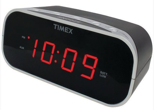 Timex Black Electric Alarm Clock Battery Backup Soft Loud  New Free US Shipping #Timex