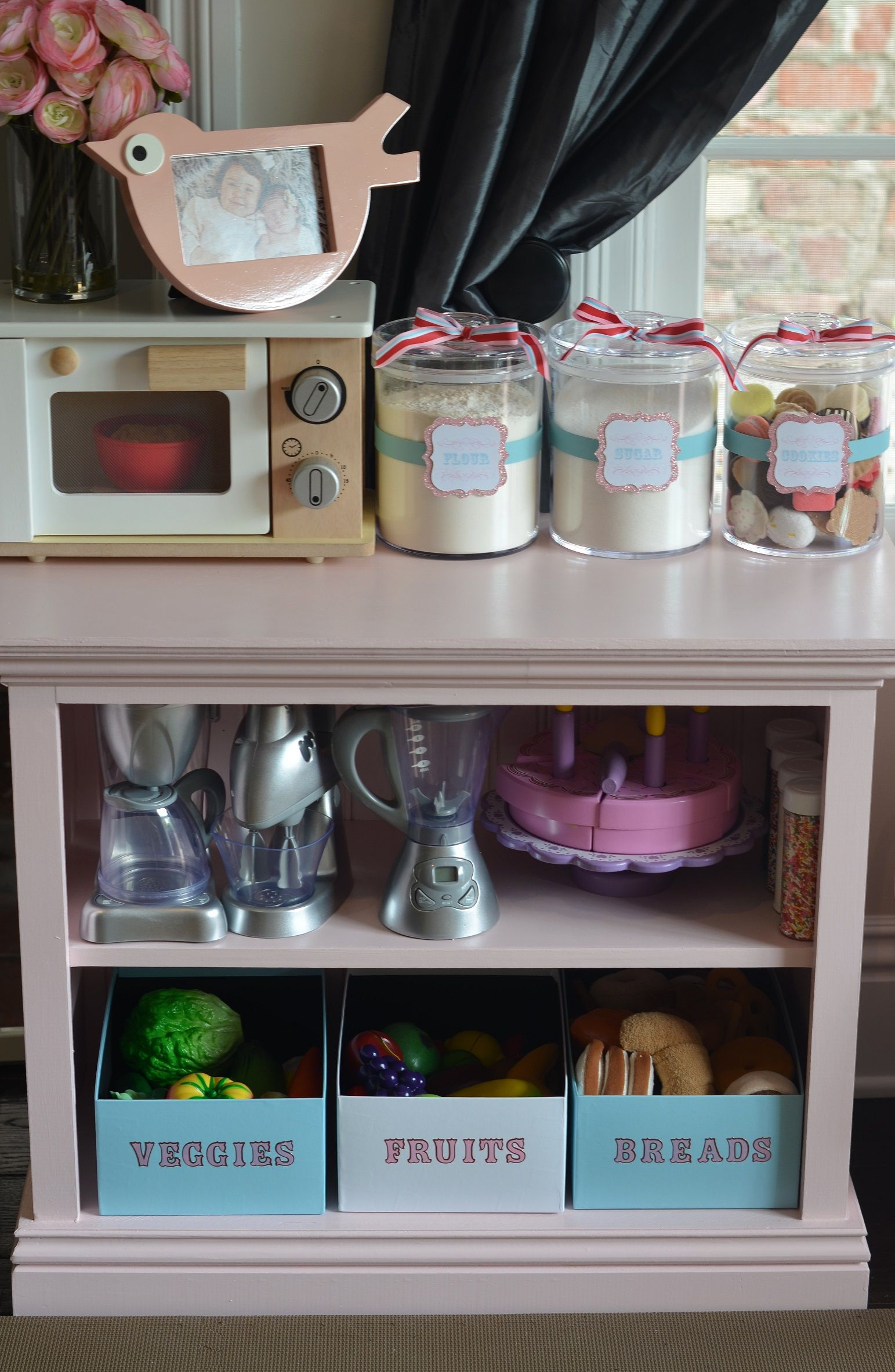 10 Kitchen And Home Decor Items Every 20 Something Needs: Play Kitchen- Love The Bins For Fruits And Veggies For