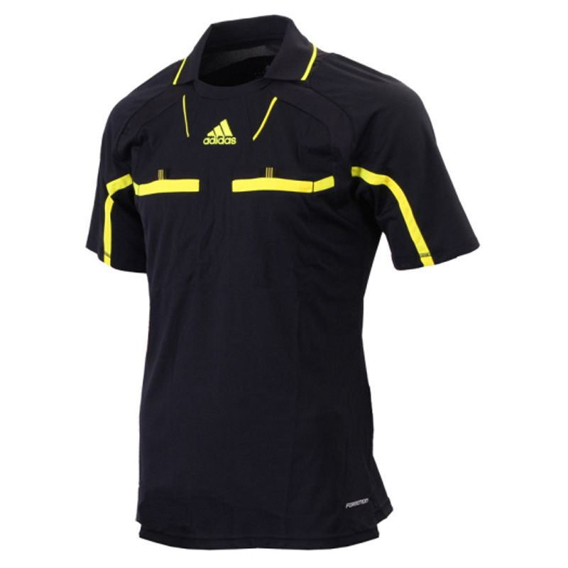 Adidas Short Sleeve Black Jersey The Official Referee Shirt For Fifa World Cup South Africa 2010 And Major League Socc Soccer Referee Referee Shirts Referee