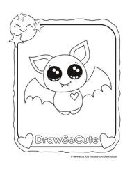 Coloring Pages Bat Coloring Pages Cute Halloween Drawings