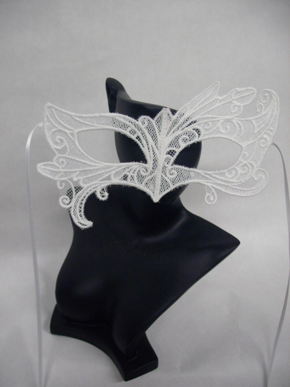 masque vénitien en dentelle,accessoires de mariée , broderie, pour carnaval de venise, loup en dentelle, par amd a coudre wedding jewerly : Autres mode par amd-a-coudre