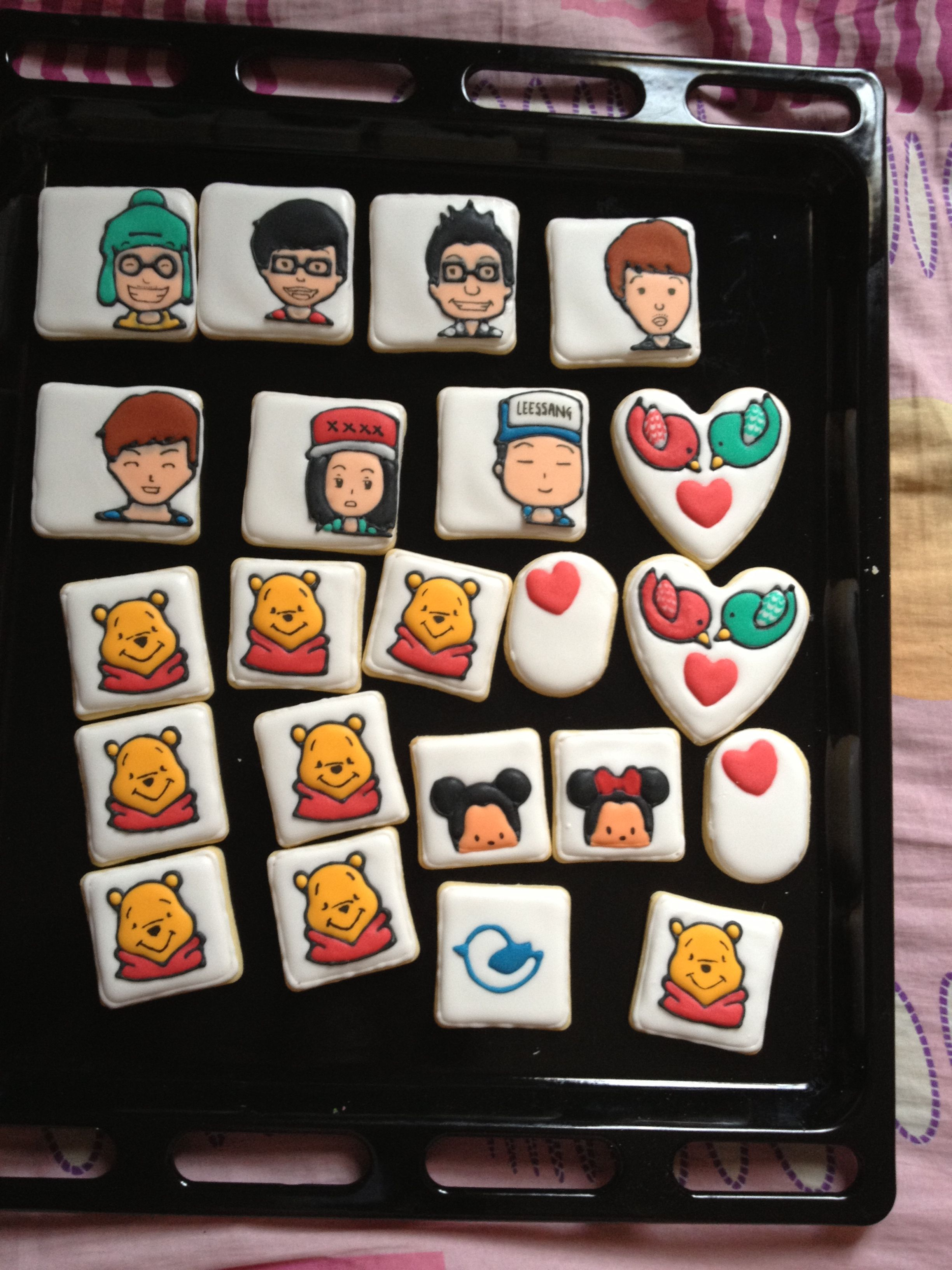 Running Man royal icing cookies and others~